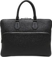 Pebbled Leather Laptop Briefcase