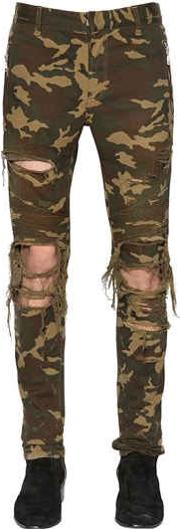 15cm Destroyed Camouflage Jeans
