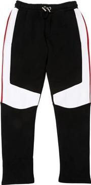 Color Block Cotton Sweatpants