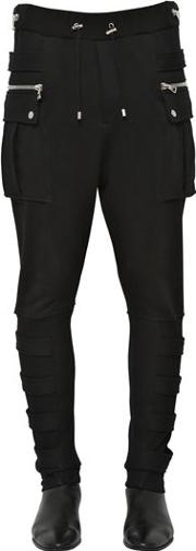 Cotton Jersey Cargo Pants W Bands
