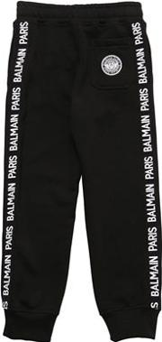 Cotton Sweatpants W Side Logo Bands