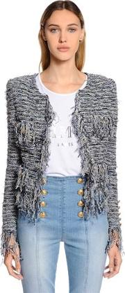 Fringed Knit Jacket