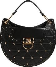 Medium Quilted Leather Bag W Studs