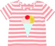 Ice Cream Patch Striped Jersey T Shirt