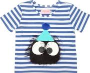 Monster Patch Striped Jersey T Shirt