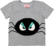 Spider Patch Cotton Jersey T Shirt