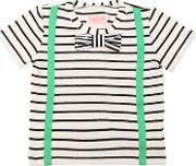 Striped Cotton Blend Jersey T Shirt
