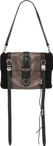 Ellie Coated Leather Shoulder Bag