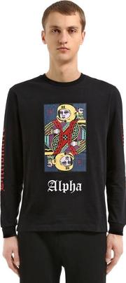 Alpha Omega Long Sleeved Cotton T Shirt