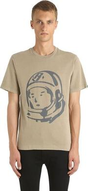 Astronaut Printed Cotton Jersey T Shirt