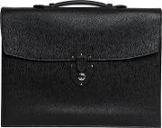 Grained Leather Double Gusset Briefcase