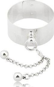 Sado Chic Wrist Cuff With Double Sphere