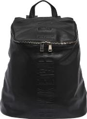 Army Embossed Faux Leather Backpack
