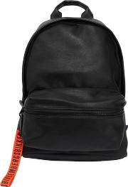 Hide Faux Leather & Rubber Backpack