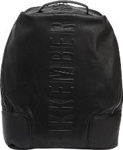 Small Army Faux Leather Backpack