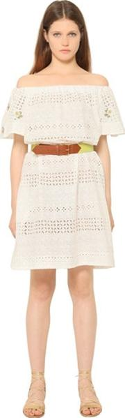 Embroidered Cotton Eyelet Dress