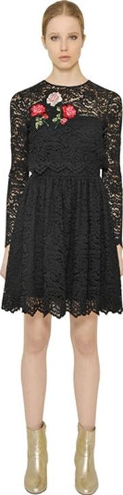 Embroidered Techno Lace Dress