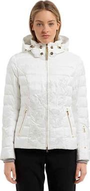 Cyra Embroidered Down Jacket