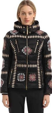 Elena Embroidered Down Jacket
