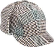 Checkered Wool Blend Sherlock Hat