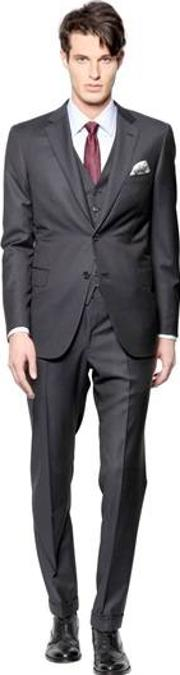 Brunico Super 150's Wool Microcheck Suit