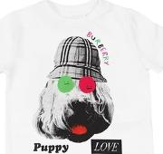 Dog Print Cotton Jersey T Shirt
