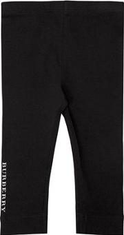 Logo Band Cotton Jersey Leggings