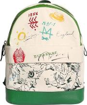 Printed Cotton Canvas Backpack