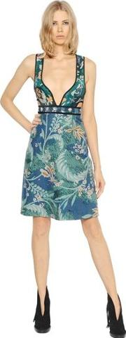 Quilted Floral Cotton Dress
