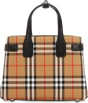 Small Banner Vintage Check Canvas Bag