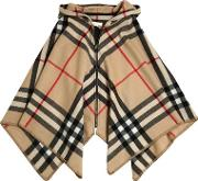 Wool & Cashmere Blend Check Cape
