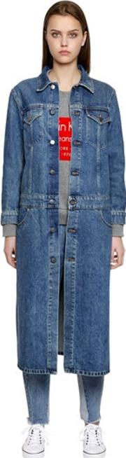 Long Cotton Denim Coat