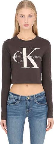 True Icon Cropped Long Sleeve T Shirt