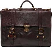 Vintage Effect Leather Briefcase