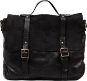 Vintage Effect Leather & Suede Briefcase