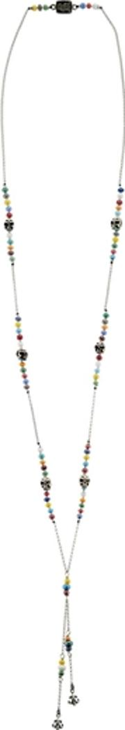 Roses & Murano Glass Beads Necklace
