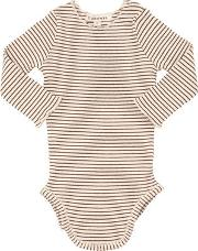 Striped Cotton Jersey Bodysuit