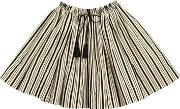 Striped Cotton Poplin Skirt
