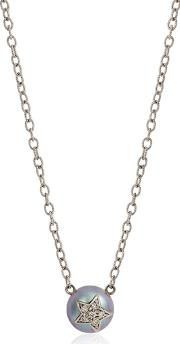 Fresh Water Pearl & Diamond Necklace