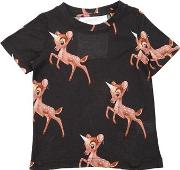 Bambi Printed Cotton Jersey T Shirt