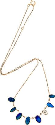 Opal Rose Gold Necklace