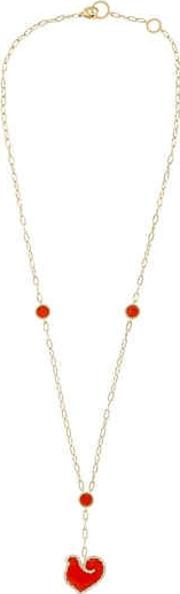 Anima 70 Coral & Gold Necklace