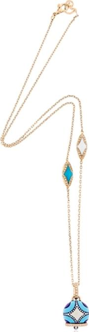 Maiolica Rose Gold & Turquoise Necklace