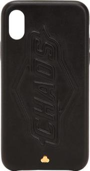 Blackout Leather Iphone X Cover