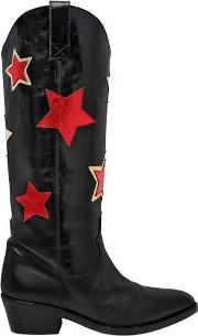 50mm Stars Leather Boots