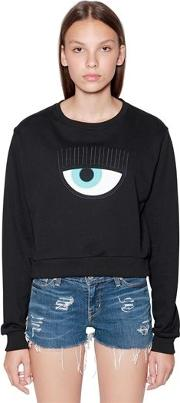 Eye Patch Cotton Sweatshirt