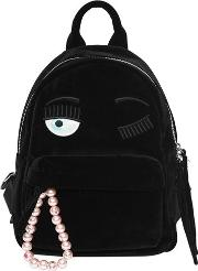 Flirting Eye Velvet Backpack