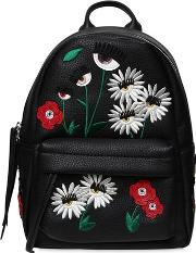 Small Daisy Faux Leather Backpack
