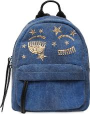 Small Flirting Eye Denim Backpack