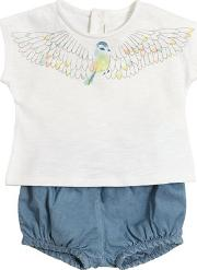 Jersey T Shirt & Chambray Diaper Cover